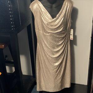 Ralph Lauren Holiday Gold Dress 14